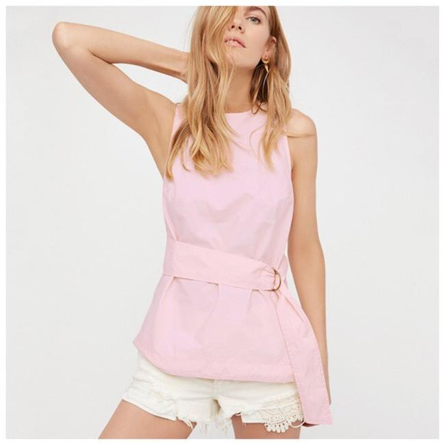 Other Cut-out Belted Top Pastel Pink Image 1