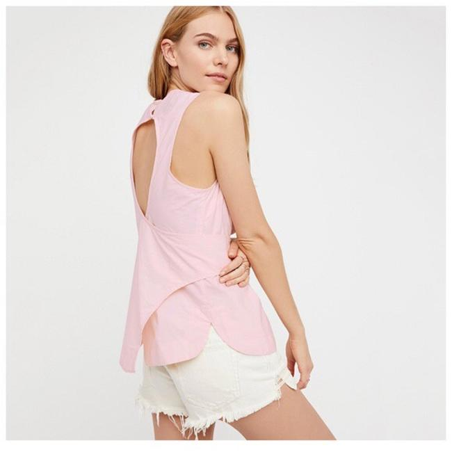 Other Cut-out Belted Top Pastel Pink Image 2