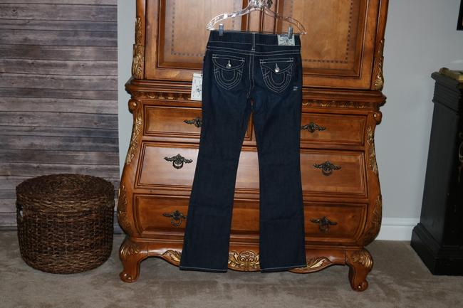 True Religion Contast Stitching Boot Cut Jeans-Dark Rinse Image 2