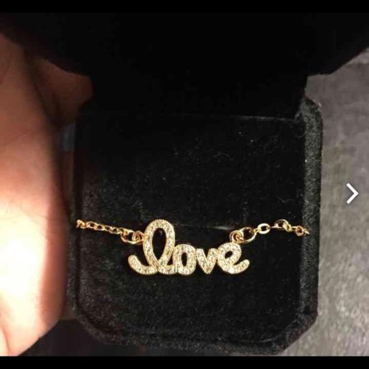 Queen Esther Etc. 24K Real Gold Plated LOVE Monogram Necklace