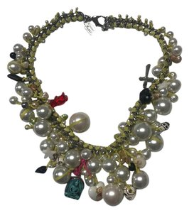 Venessa Arizaga Song Necklace with peals and charms