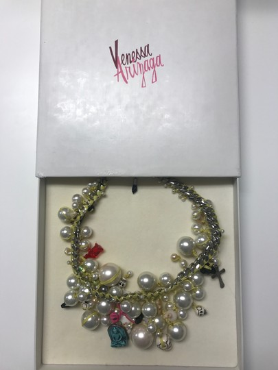 Venessa Arizaga Song Necklace with peals and charms Image 3