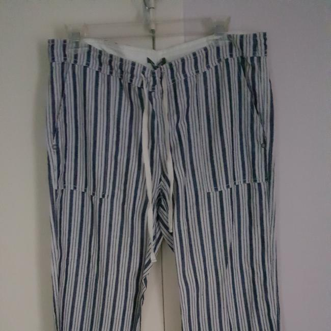 Michael Stars Wide Leg Pants navy and cream Image 4