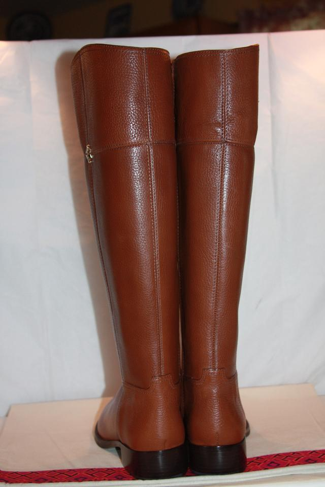 7ccc7ad84c60 Tory Burch Brown Jolie Riding Rustic Women s B Boots Booties Size US ...