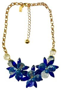 Kate Spade crystal flowers collar necklace