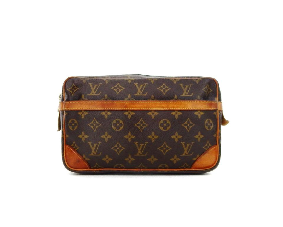Louis Vuitton Vintage Compiegne 28 Monogram Canvas Leather Makeup Travel  Dopp Bag ... aac6cb01c1ab0