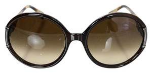 Lanvin Lanvin Round Frame Crystal Accent Sunglasses
