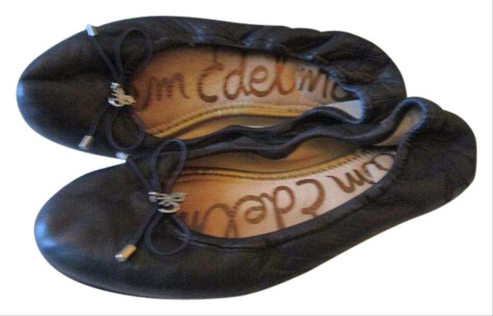 353018cb2 Sam Edelman Accent Stitiching Logo Signature Insoles Silver Hardware  Felicia Navy Ballet Flats Image 0 ...