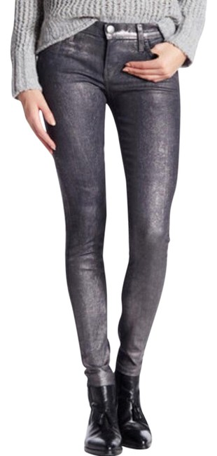 Item - Gunmetal Coated The Ankle Skinny Jeans Size 27 (4, S)