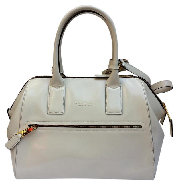 Marc Jacobs New Incognito Medium Collection White Cream Leather Satchel Marc Jacobs New Incognito Medium Collection White Cream Leather Satchel Image 1