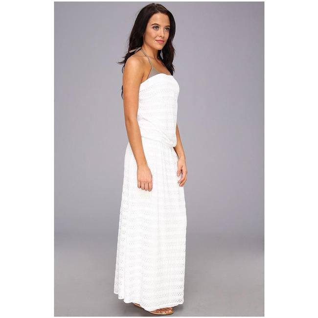 white Maxi Dress by Vitamin A Image 3