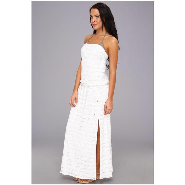 white Maxi Dress by Vitamin A Image 4