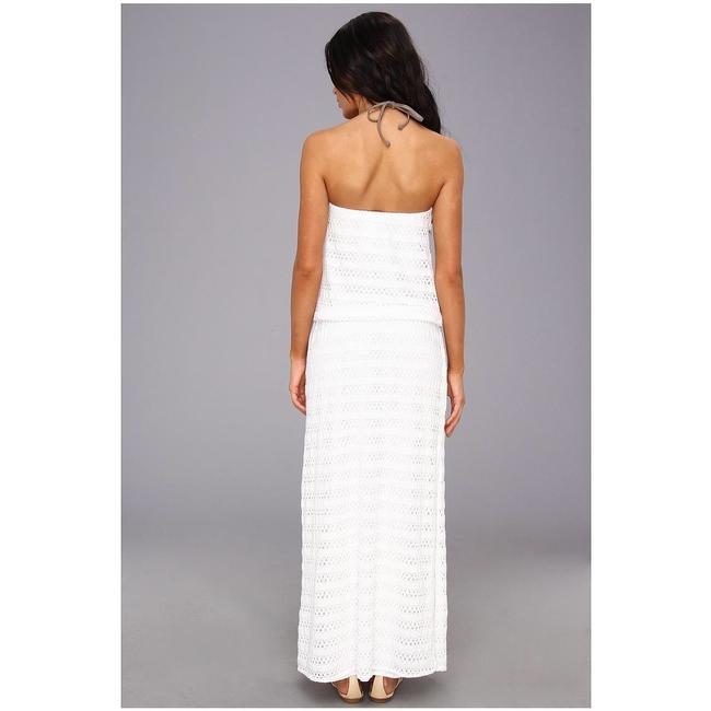 white Maxi Dress by Vitamin A Image 5