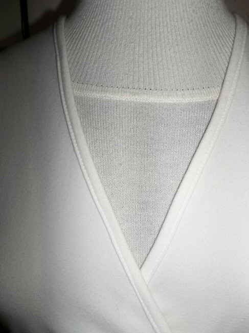 Soft Surroundings Wrap Tie Wood Ring Xsmall Top White