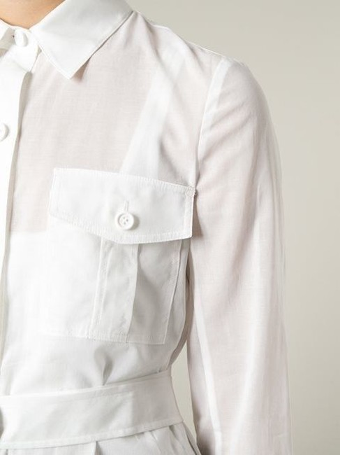 Theory Cotton Button Down Shirt White Image 4