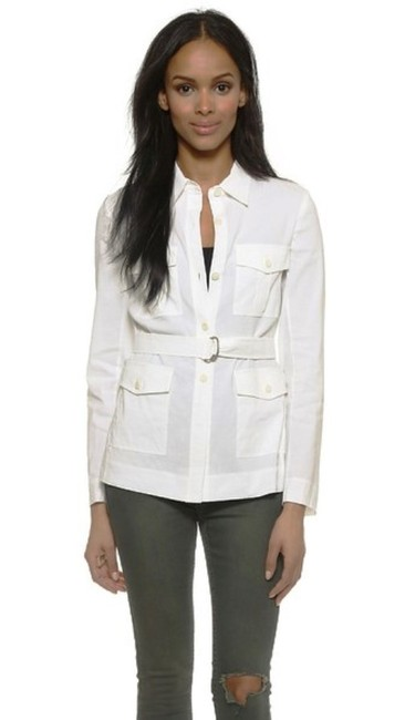 Theory Cotton Button Down Shirt White Image 6