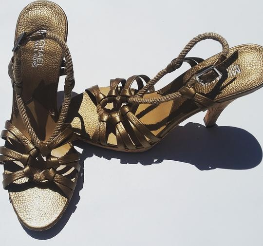 Michael Kors Metallic Rope Corkscrew Limited Edition Bronze Sandals Image 1