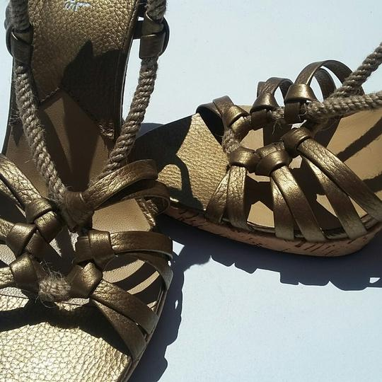 Michael Kors Metallic Rope Corkscrew Limited Edition Bronze Sandals Image 2