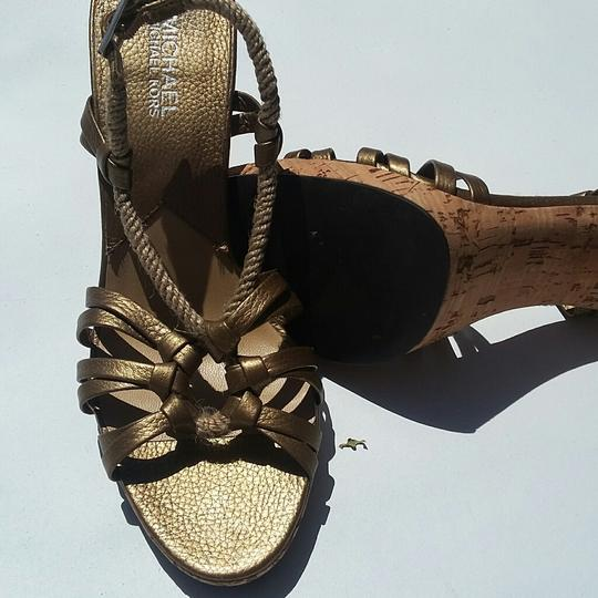 Michael Kors Metallic Rope Corkscrew Limited Edition Bronze Sandals Image 3