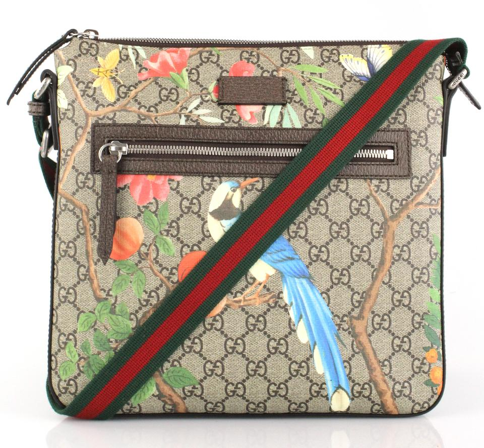 fa60bb9dac2c54 Gucci GG Supreme Tian Multicolor Canvas/Leather Messenger Bag - Tradesy