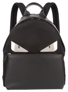 469dcab04980 Fendi Bugs Monster Metal Eyes Black Nylon Leather Backpack - Tradesy