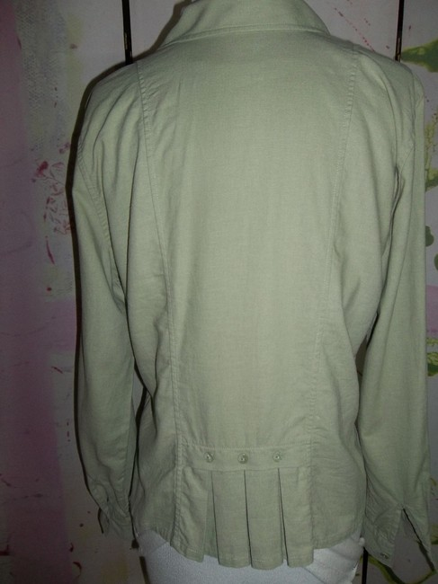 Christopher & Banks Size Small Plackets Long Sleeve Button Down Shirt Moss green Image 3