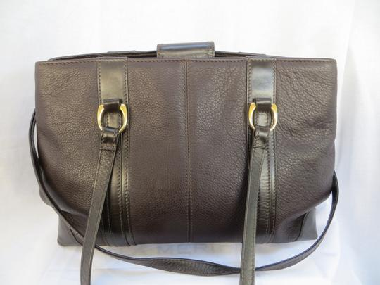 Handcrafted Leather/HCL Mint Vintage M-l Size Rare All Style Gold Hardware Satchel in HCL logo Black Leather Image 5