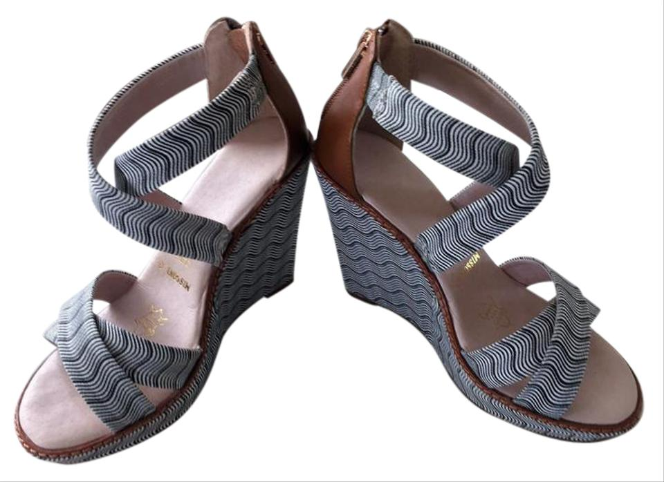a9ea3346e11d Missoni for Target Black and White Australia Zig Zag Wedge Sandals ...