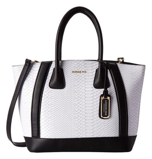 Preload https://item5.tradesy.com/images/london-fog-white-faux-leather-tote-2153039-0-0.jpg?width=440&height=440