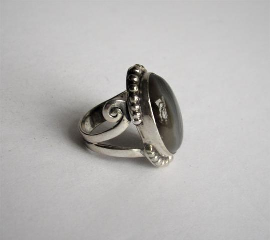 Unbranded Atrisan WOMEN'S CHUNKY OVAL SARD BLACK ONYX CABOCHON.925 STERLING SILVER RING Image 2