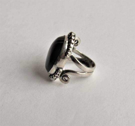 Unbranded Atrisan WOMEN'S CHUNKY OVAL SARD BLACK ONYX CABOCHON.925 STERLING SILVER RING Image 3