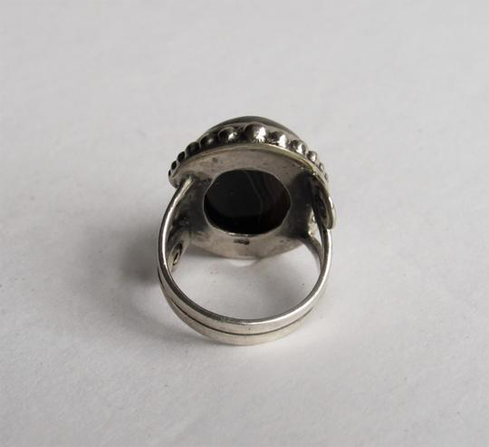 Unbranded Atrisan WOMEN'S CHUNKY OVAL SARD BLACK ONYX CABOCHON.925 STERLING SILVER RING Image 6
