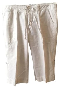 Calvin Klein Capri/Cropped Pants White