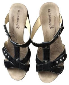 Romika black Platforms