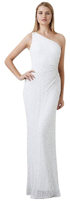Preload https://img-static.tradesy.com/item/21530764/adrianna-papell-ivory-beaded-one-shoulder-gown-long-formal-dress-size-14-l-0-1-650-650.jpg