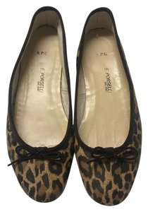 A.P.C. Ballet Leopard Leather Leather animal print Flats