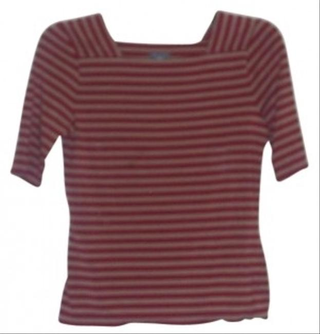 Ann Taylor T Shirt Red/ Camel
