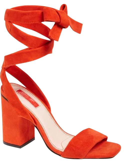 Item - Coral/Red Rapping Sandals Size US 7.5 Regular (M, B)