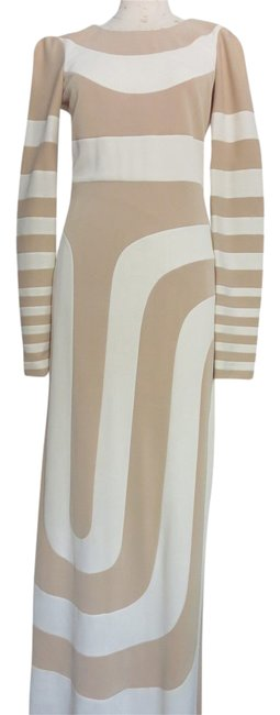Preload https://img-static.tradesy.com/item/21531193/marc-jacobs-beige-ivory-multi-color-nude-striped-color-block-stretch-maxi-long-cocktail-dress-size-4-0-3-650-650.jpg