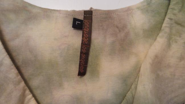 Language Knit Anthropologie Large New Top Off-white, green, red Image 2