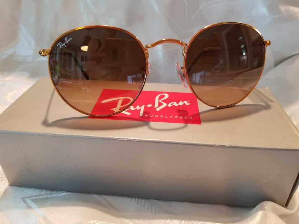 955da29bac Ray-Ban Gold Frame with Rose Gradient Lenses Round Metal Rb3447 Shiny Light  Bronze Pink Brown Sunglasses - Tradesy