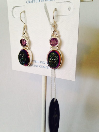 JS Collections Blue/Green Drusy & Faceted Amethyst Image 3