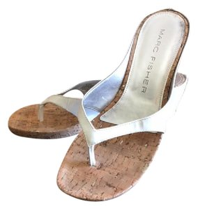 Marc Fisher White Wedges