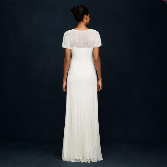 J.Crew Ivory A0368 Beaded Gown Vintage Wedding Dress Size 0 (XS) Image 3