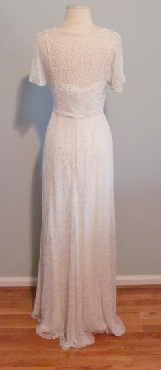 J.Crew Ivory A0368 Beaded Gown Vintage Wedding Dress Size 0 (XS) Image 5