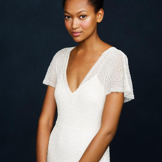 J.Crew Ivory A0368 Beaded Gown Vintage Wedding Dress Size 2 (XS) Image 2