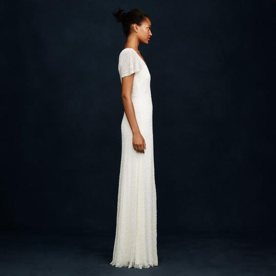 J.Crew Ivory A0368 Beaded Gown Vintage Wedding Dress Size 2 (XS) Image 3
