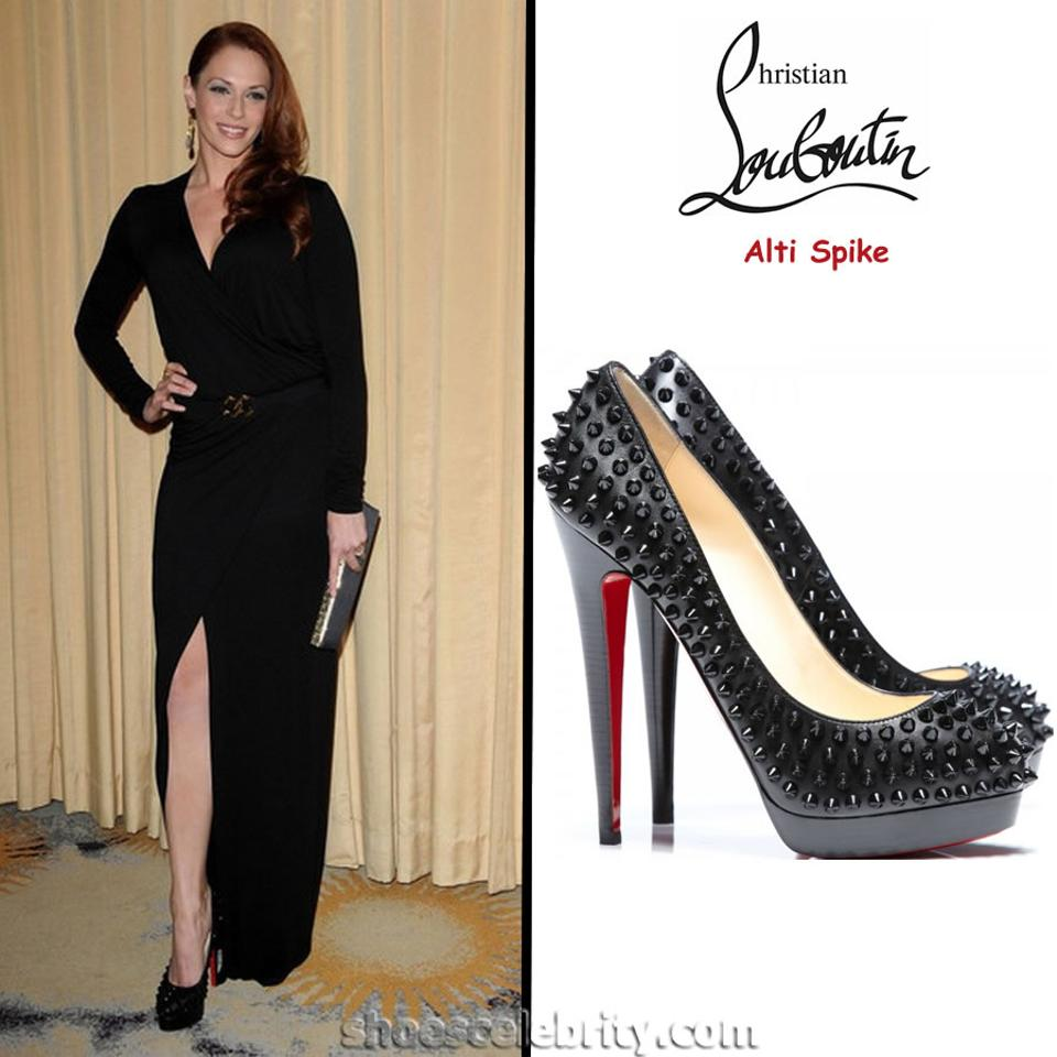 Toe 40 High Alti Fashion Patent Christian Red Heel Pigalle Black Louboutin Pumps Lady Sole Spike It Icwx16C1qT