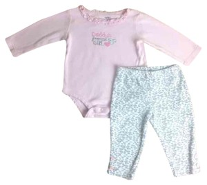 "Carter's Carters 12 Month ""Daddy's Favorite Girl""- Long Sleeve Onesie and Matching Leopard Pants"