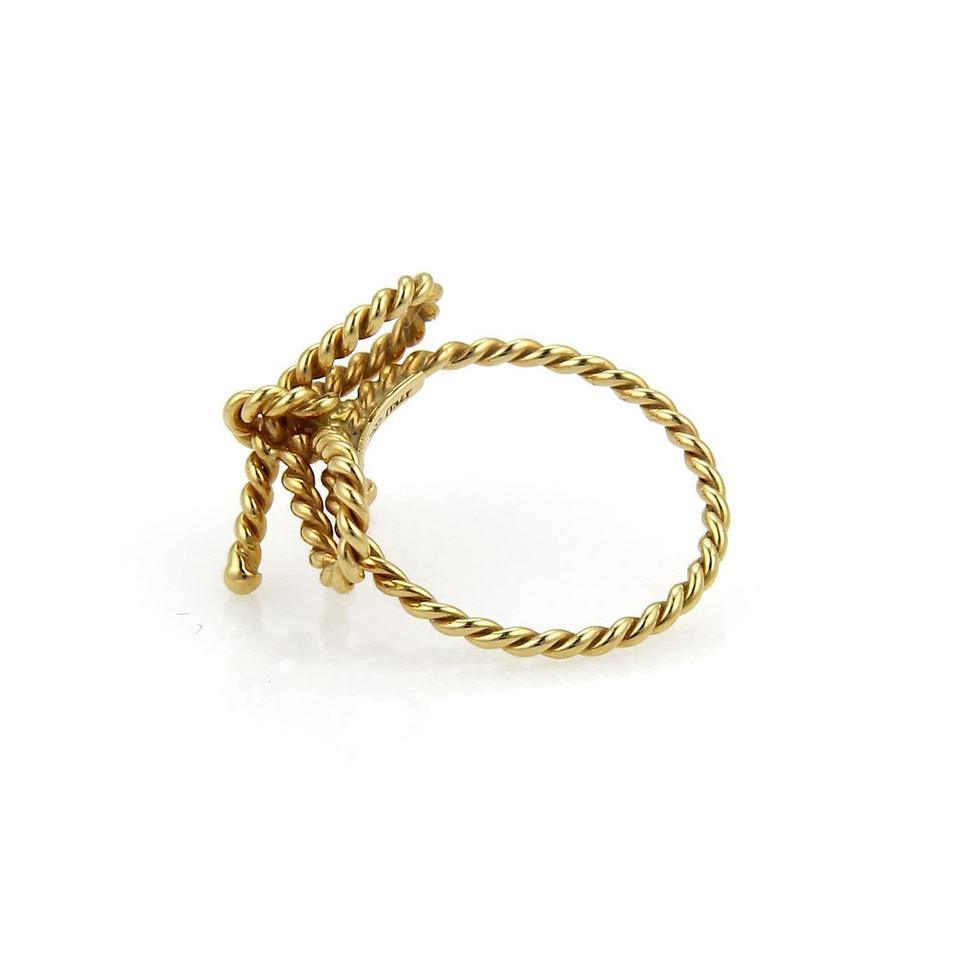 Tiffany & Co. Yellow Gold Twisted Wire Bow Size 4.75 Ring - Tradesy